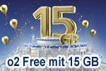15 Jahre o2 - Aktionstarif o2 Free 15 mit 15 GB LTE für nur 29,99 €