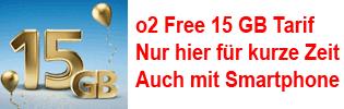 Aktionstarif o2 Free 15 GB