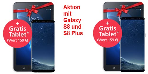 o2 WOW der Woche: Samsung Galaxy S8 / S8 Plus mit gratis Tablet