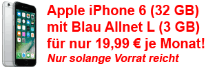 Blau Allnet Flat mit iPhone 6 - Sonderaktion