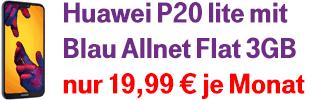Aktion Huawei P20 lite bei Blau.de