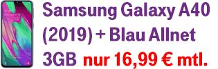 Samsung Galaxy A40 bei Blau.de