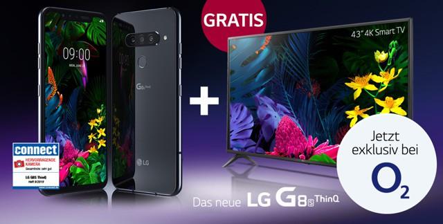"o2 Halloween-Deal: LG G8s ThinQ + 43"" Smart-TV"