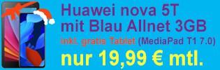 Huawei nova 5T bei Blau.de