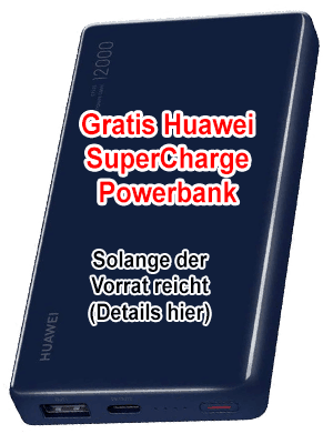 Huawei Powerbank SuperCharge - gratis bei o2