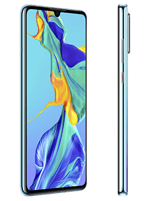 Huawei P30 - weiß (seitlich) - o2