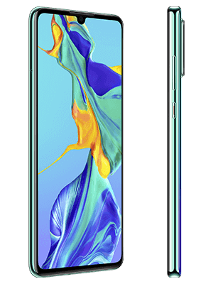 Huawei P30 - blau / aurora (seitlich) - o2