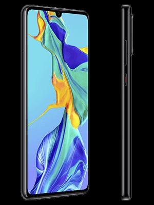 Huawei P30 - schwarz (seitlich) - o2