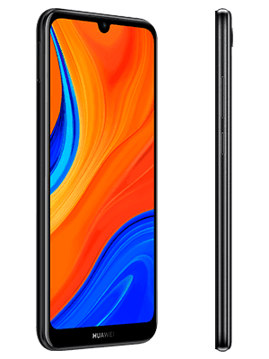 Huawei Y6s - schwarz (seitlich) - o2
