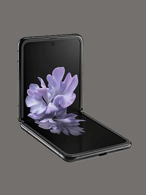 Samsung Galaxy Z Flip - schwarz geklappt seitlich - o2