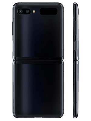 Samsung Galaxy Z Flip - schwarz hinten - o2