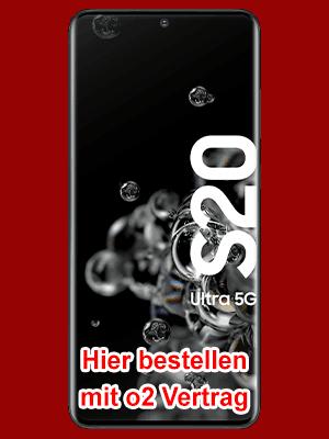 Samsung Galaxy S20 Ultra 5G - hier bei o2 bestellen