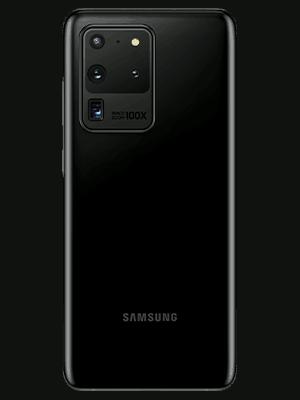 Samsung Galaxy S20 Ultra 5G in schwarz (hinten) - o2