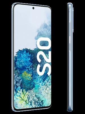 Samsung Galaxy S20 - blau seitlich - o2