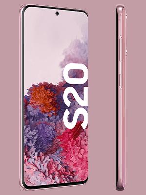Samsung Galaxy S20 - pink seitlich - o2