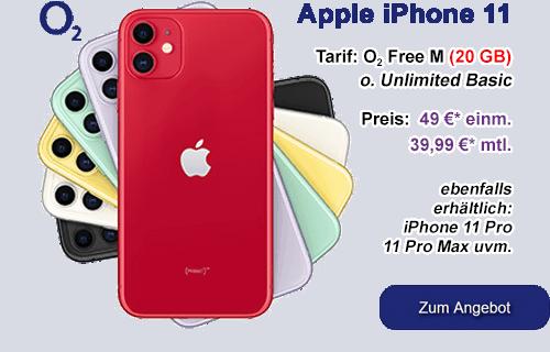 Apple iPhone 11 günstig mit o2 Free Vertrag
