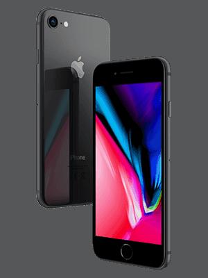 o2 - Apple iPhone 8 - schwarz (seitlich)