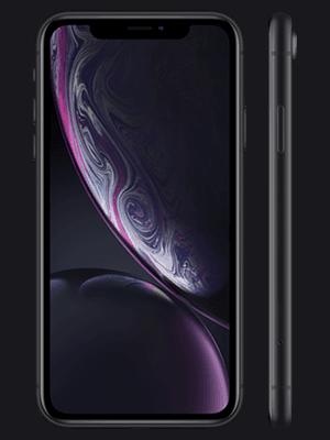 o2 - Apple iPhone XR - schwarz (vorn und seitlich)
