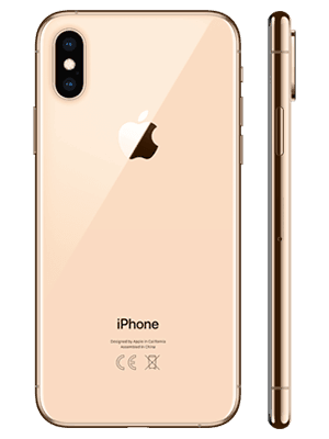 o2 - Apple iPhone XS - gold (hinten / seitlich)