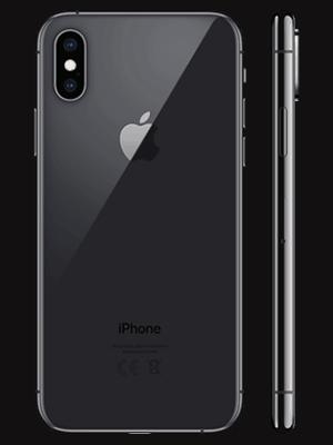 o2 - Apple iPhone XS - spacegrau / schwarz (hinten / seitlich)
