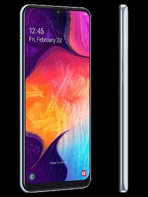 o2 - Samsung Galaxy A50 - weiß (seitlich)