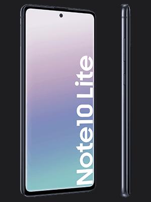 o2 - Samsung Galaxy Note 10 Lite - schwarz (seitlich)