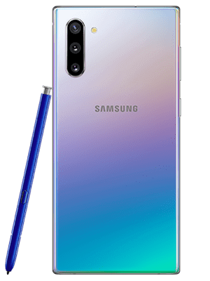 o2 - Samsung Galaxy Note 10 - aurora / silber (hinten)