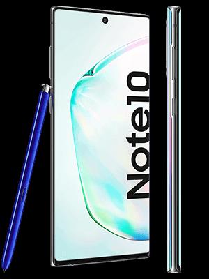 o2 - Samsung Galaxy Note 10 - aurora / silber (seitlich)