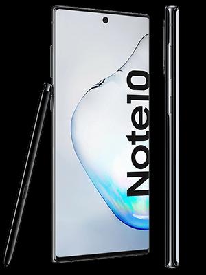 o2 - Samsung Galaxy Note 10 - schwarz (seitlich)