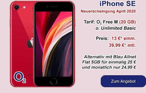 iPhone SE günstig bei o2 oder Blau.de