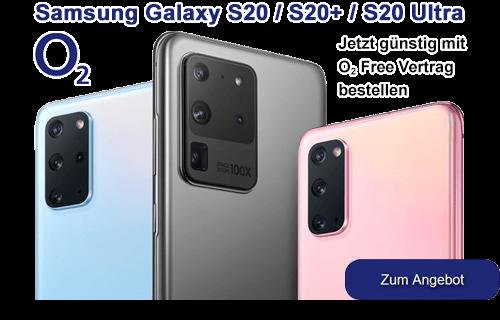 Samsung Galaxy S20 günstig bei o2