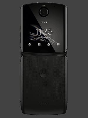 o2 - Motorola razr - aufgeklappt - schwarz (hinten)