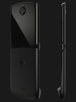 o2 - Motorola razr - aufgeklappt - schwarz (seitlich / hinten)