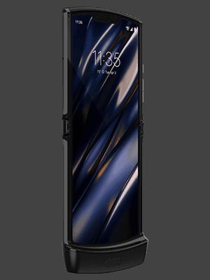 o2 - Motorola razr - aufgeklappt - schwarz (vorn)