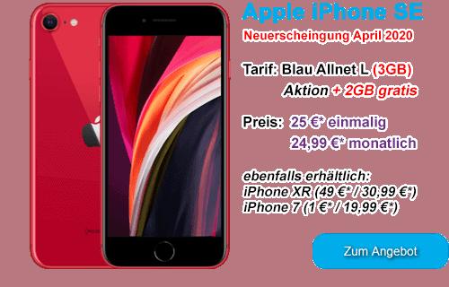 Apple iPhone SE bei Blau.de
