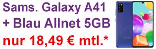Samsung Galaxy A41 bei Blau.de