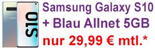Samsung Galaxy S10 bei Blau.de