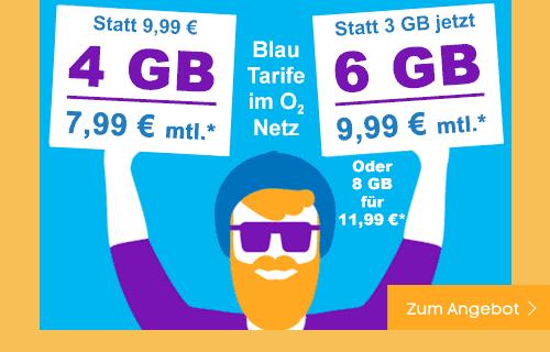 Blau Angebote Allnet Flat