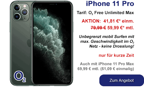 Apple iPhone 11 Pro günstig bei o2