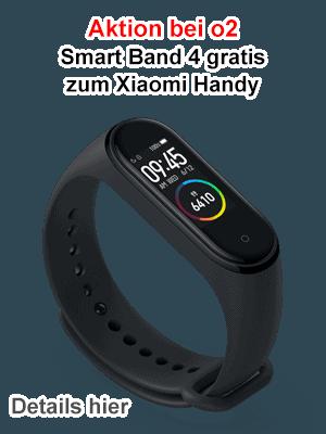 Gratis Xiaomi Smart Band 4 bei o2