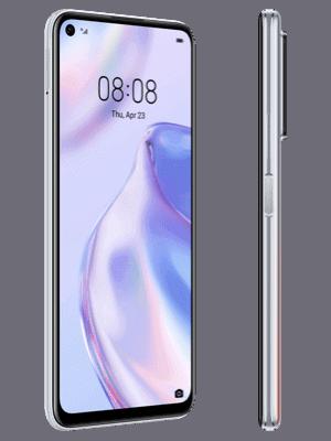 o2 - Huawei P40 lite 5G (silber / seitlich)