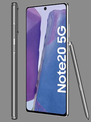 o2 - Samsung Galaxy Note20 5G (grau / mystic gray - seitlich)