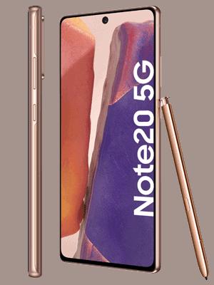 o2 - Samsung Galaxy Note20 5G (kupfer / mystic bronze - seitlich)
