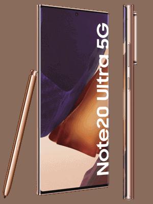 o2 - Samsung Galaxy Note20 Ultra 5G (kupfer / mystic bronze - seitlich)