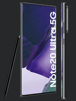 o2 - Samsung Galaxy Note20 Ultra 5G (schwarz / mystic black - seitlich)