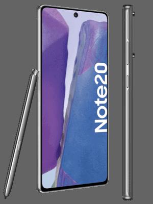 o2 - Samsung Galaxy Note20 (grau / mystic gray - seitlich)