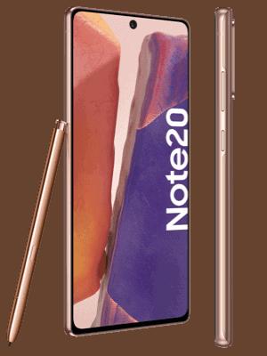 o2 - Samsung Galaxy Note20 (kupfer / mystic bronze - seitlich)