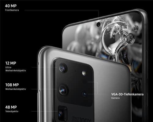 Kamera vom Samsung Galaxy S20 Ultra 5G