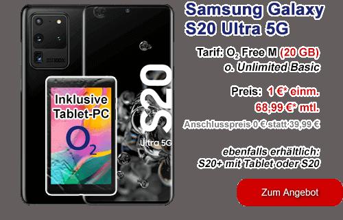 Samsung Galaxy S20 Ultra 5G bei o2