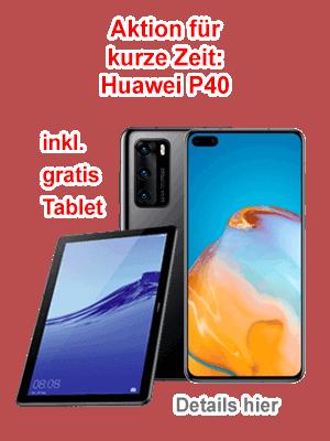 Huawei P40 mit Tablet PC bei o2
